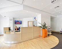 Photograph of our Garden Studios reception area